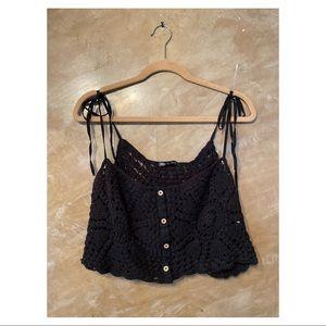 Zara string straps crop top